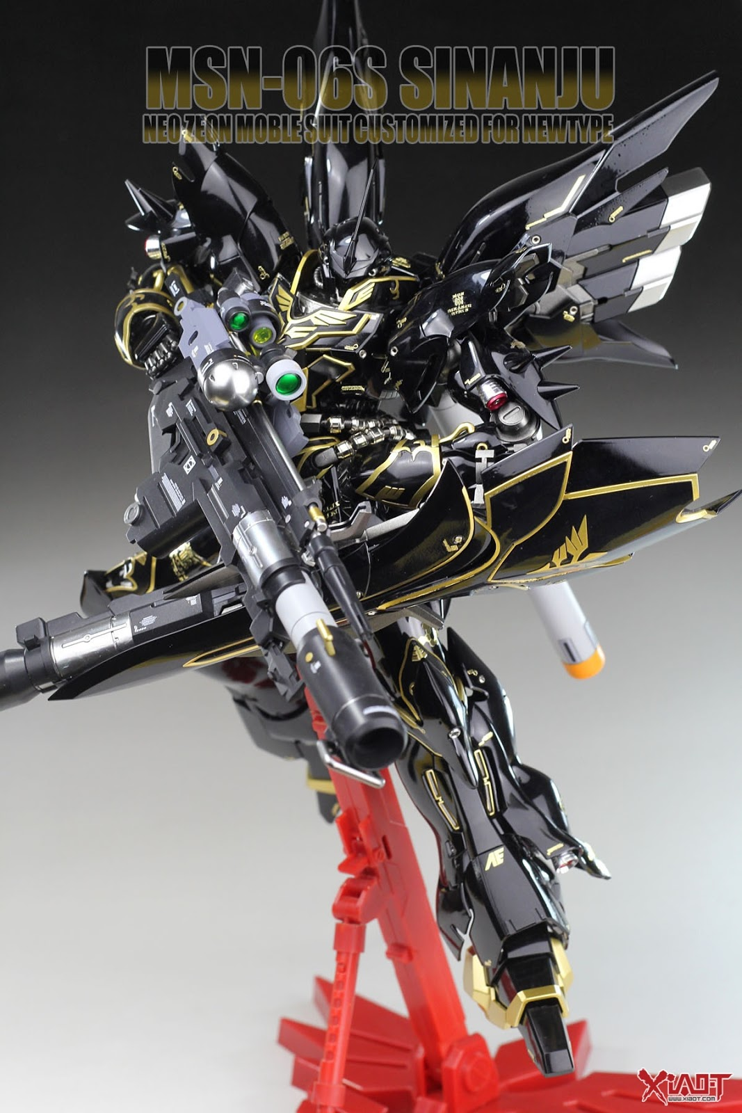 Custom Build: MG 1/100 MSN-06S Sinanju [Dark] - Gundam ...