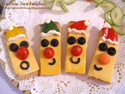 cute gnome sandwiches