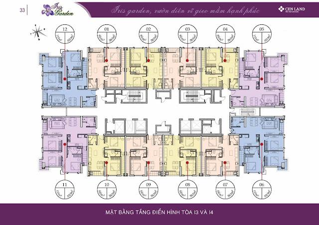 Thiết kế tòa I3 - I4 Iris Garden