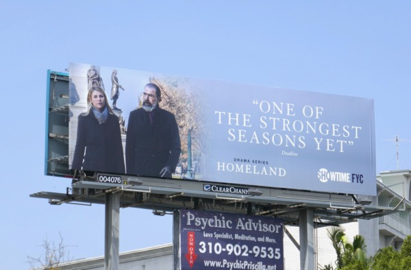 Homeland 2018 Emmy consideration billboard
