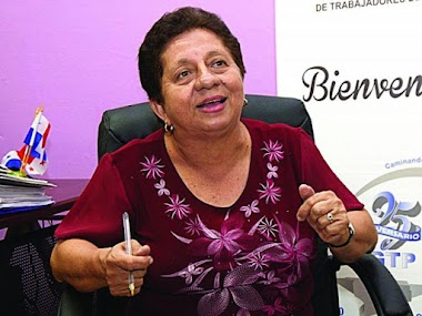 'Los cambios solo se producen a través de la organización' Nelva Reyes Barahona, Secretaria General de la CGTP