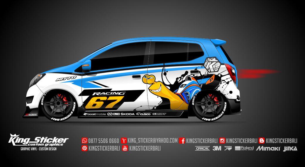 Mazda 3 Sport >> STICKER MOBIL KEONG TURBO RACING | King Sticker bali