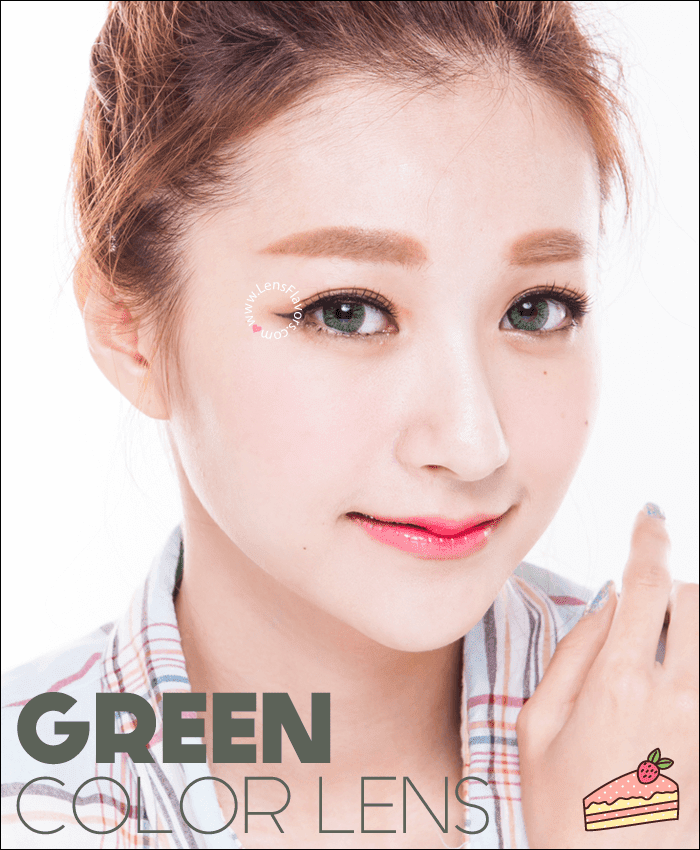 gg gbt green colored contacts