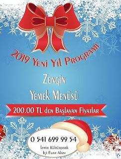 Ada Gazinosu İzmir Yılbaşı programı menü fiyat