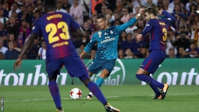 Barcelona 1-3 Real Madrid: Cristiano Ronaldo scores and sent off