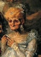 Goya, Las viejas (detalle)