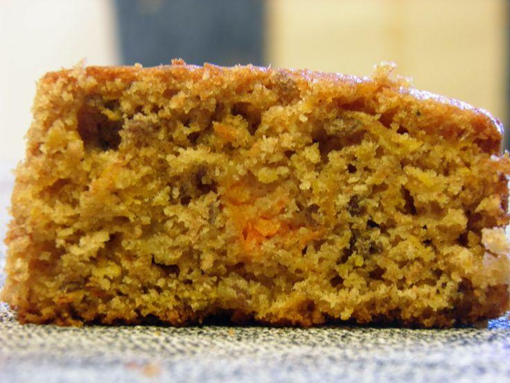 Torta integral con calabaza rallada