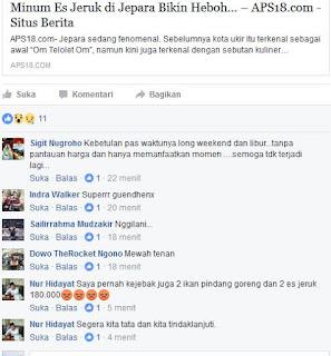 Minum Es di Kabupaten Jepara Hebohkan Masyarakat