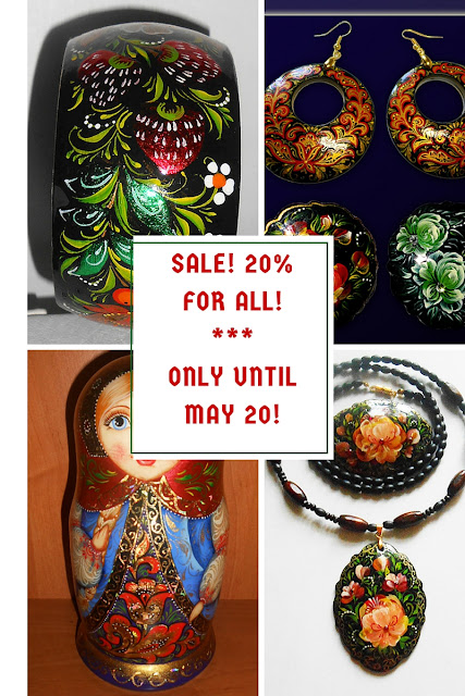 Exclusive Paintings, Souvenirs and Jewelry with russian folk painting