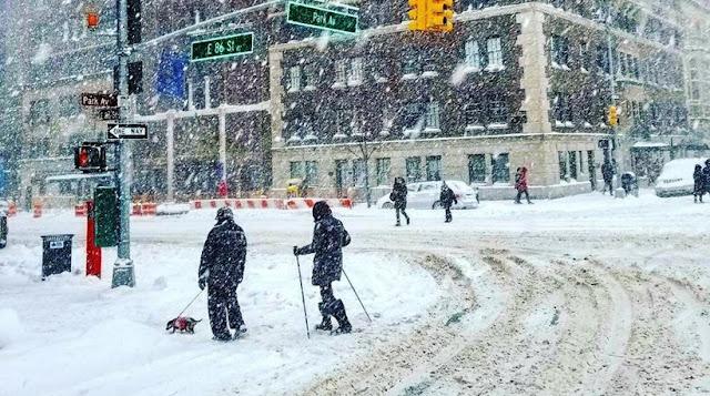 Απίστευτη χιονόπτωση στη Νέα Υόρκη - Βγήκαν με σκι στο Μανχάταν! (βίντεο)