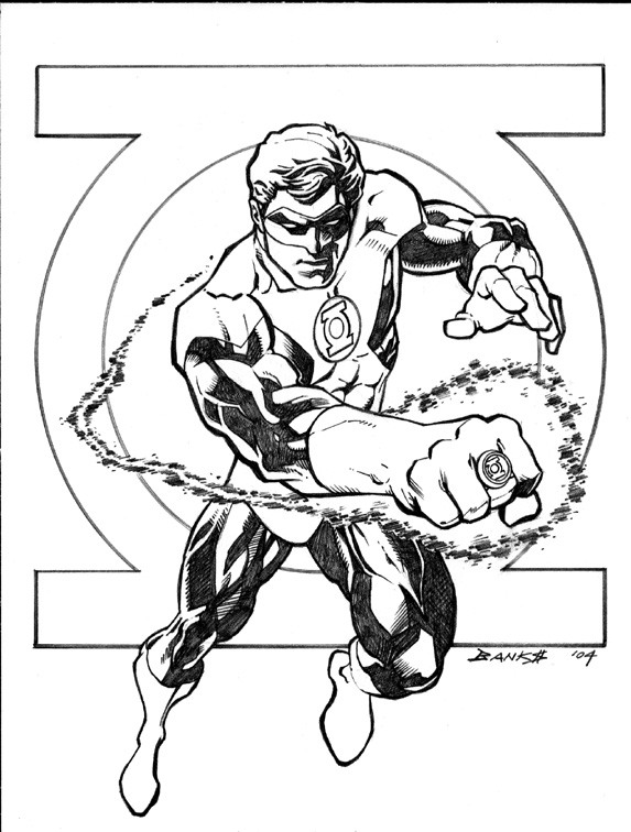 Green lantern coloring pages free printable coloring - Coloriage dc comics ...