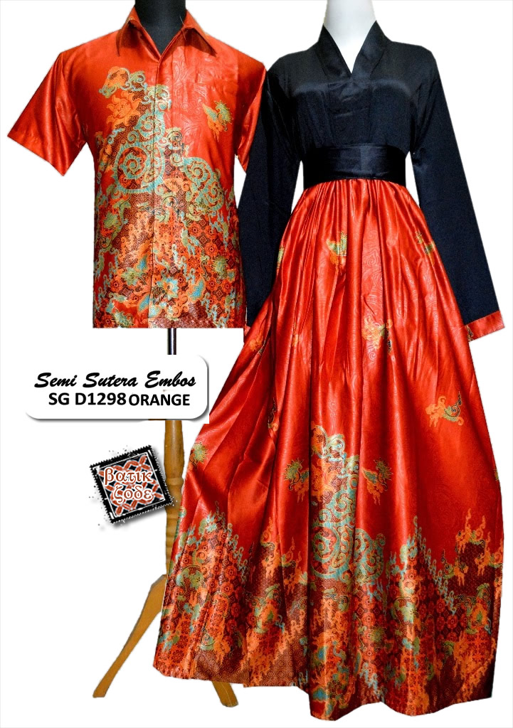 Model Gamis Batik Kombinasi Satin Trend Fashion Indonesia