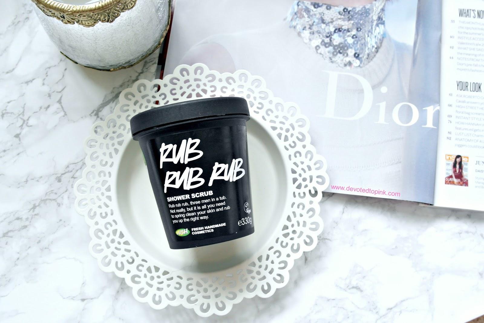 lush rub rub rub review, beauty blogger