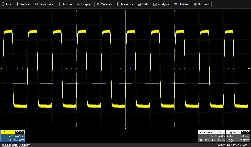 Initial setup of WaveSurfer 3000 oscilloscope
