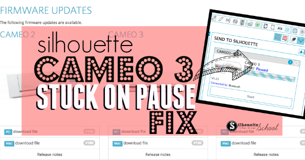 Silhouette Cameo 3 Pause Status How To Fix It When It S Stuck Silhouette School