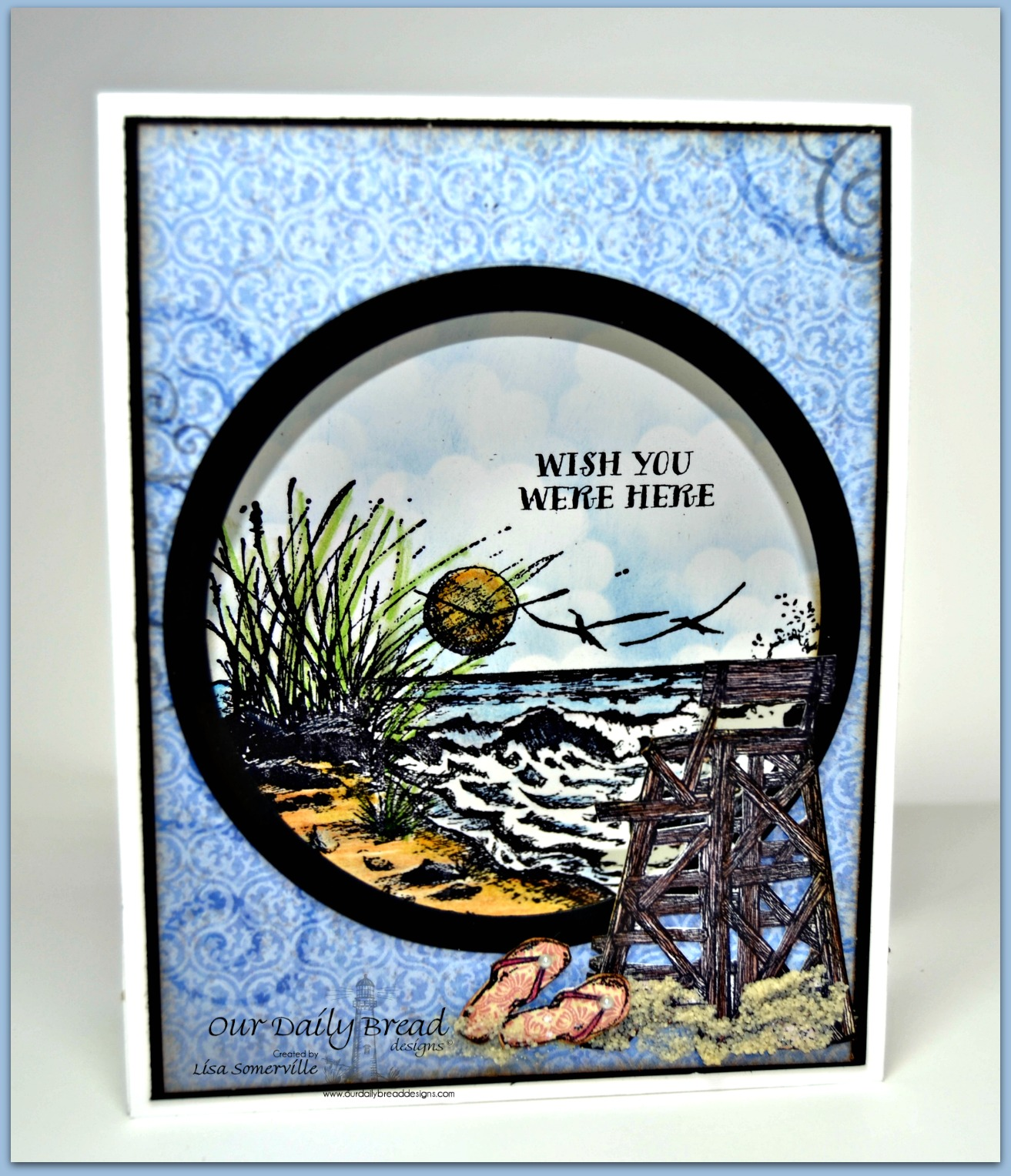 Stamps - Our Daily Bread Designs The Mighty Sea, My Lifeguard, Life is Better, Flip Blop Fun, ODBD Christian Faith Paper Collection, ODBD Blushing Rose Paper Collection