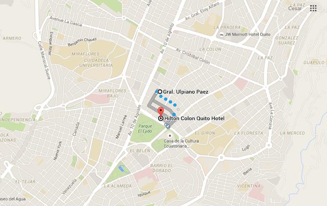 mapa - Hotel en Quito - Hotel Hilton Colón Quito