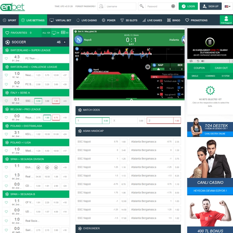 Enbet Live Betting Offers
