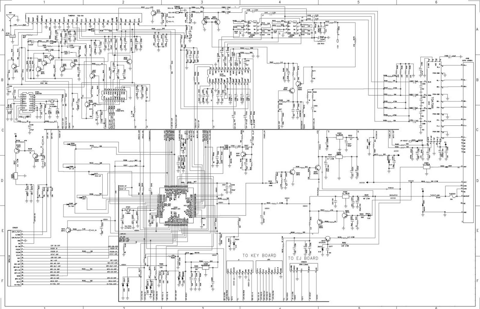Electro help: Hyundai H CDM8042 Car Stereo Circuit Diagram