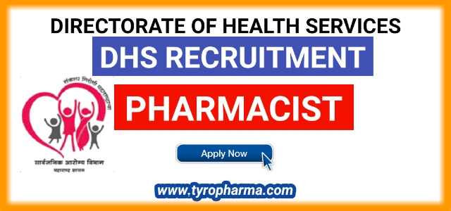DHS Recruitment 2019 | Pharmacist job in Directorate of Health Services - Akola 30 posts