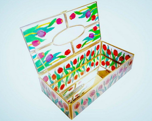 Tinuku.com Tito Sugiarto studio presents glass painting artworks for architectural design lit luxury and give revelation
