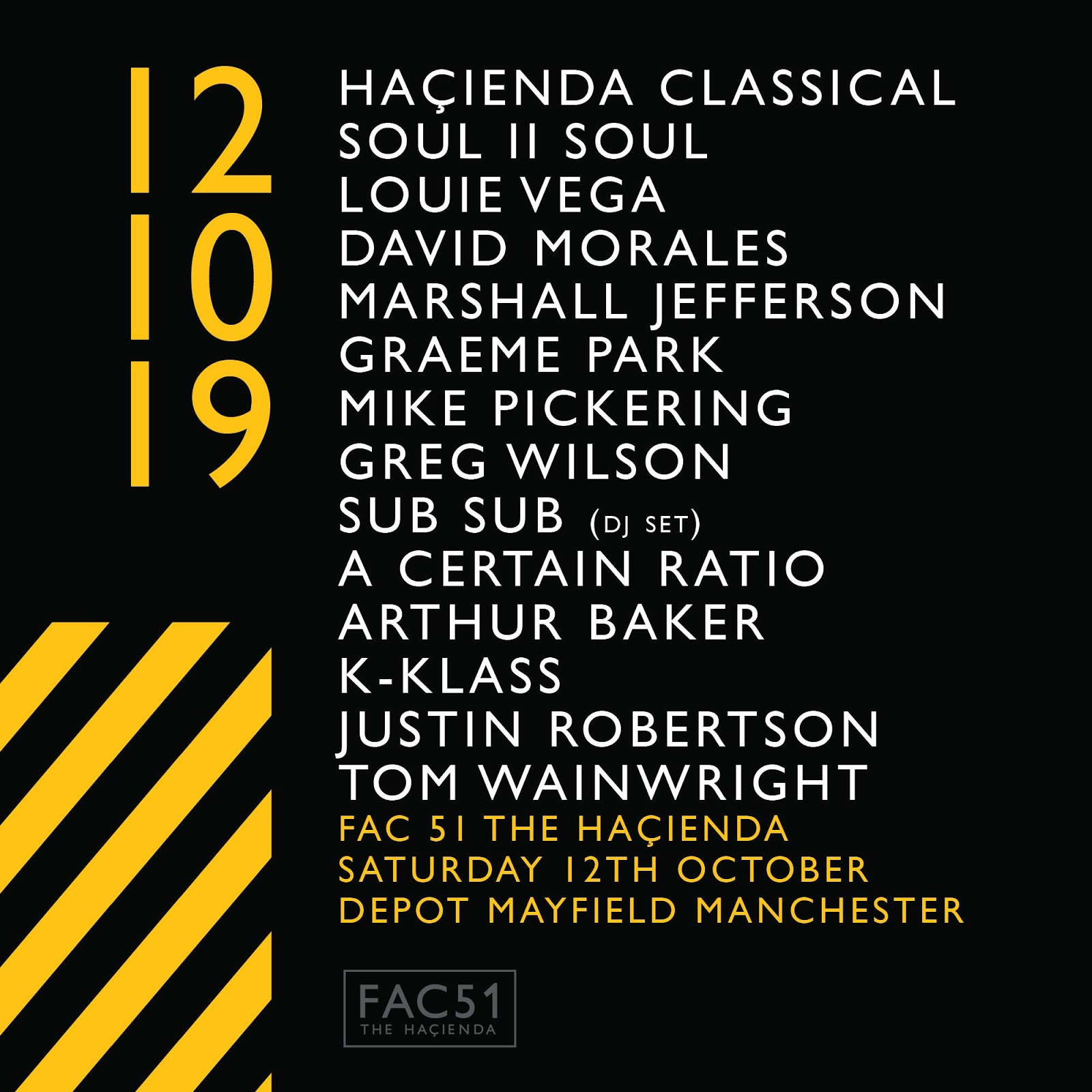 ACR Gigography - 12 October 2019, Warehouse Project, Mayfield Depot, Manchester