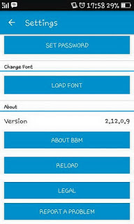bbm mod BBM Simple Blue