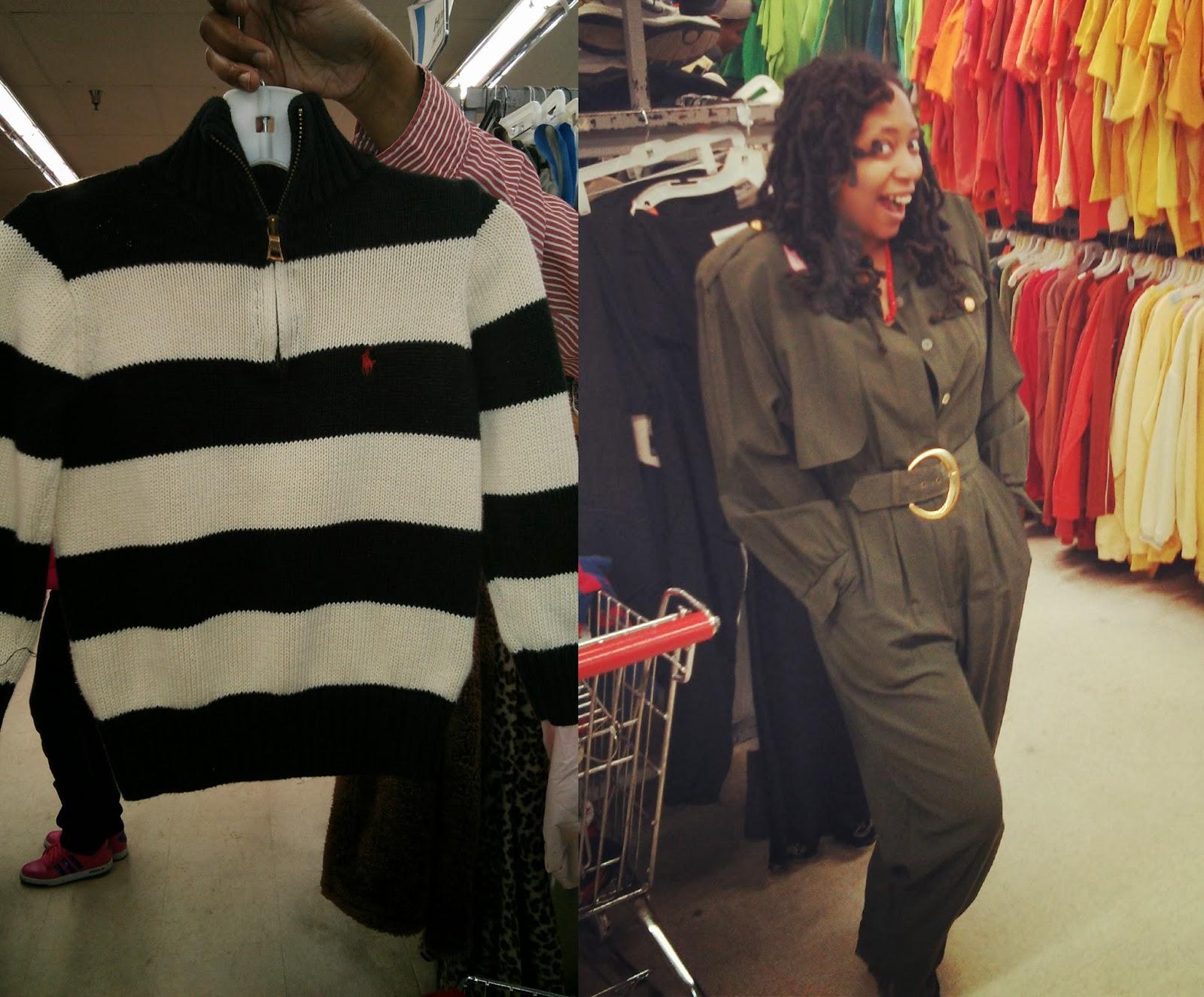 thrift store vintage jumpsuit