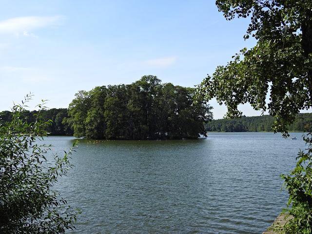 Na jeziorze Lubiąż są dwie wyspy.