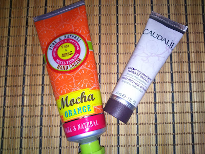 Caudalie Hand and Nail cream and Figs & Rouge Hand cream