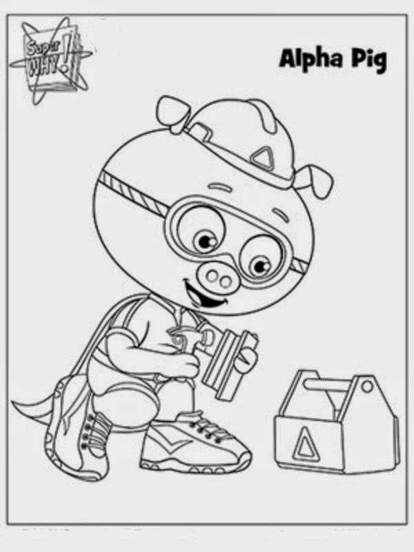 It's just an image of Légend Super Why Coloring Book