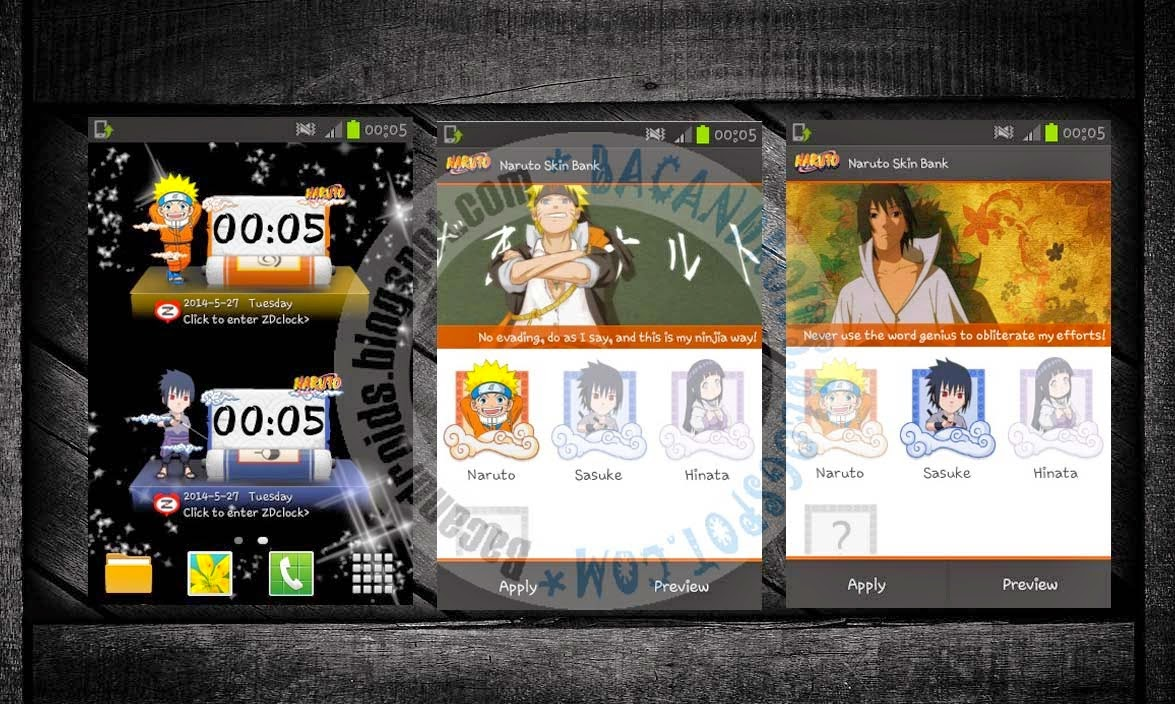 Clock Widget Anime Naruto Apk For Android