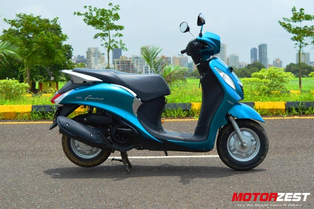 Yamaha Fascino India Sassy Cyan Side View
