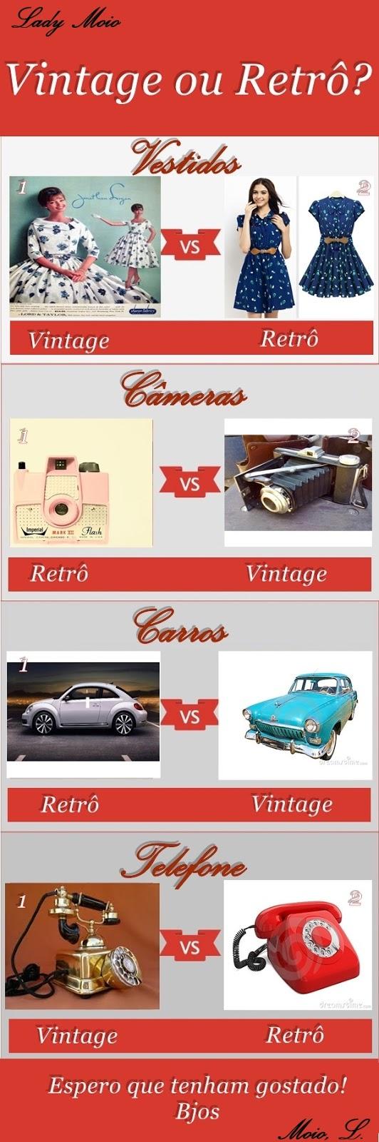 retrô e vintage diferenças