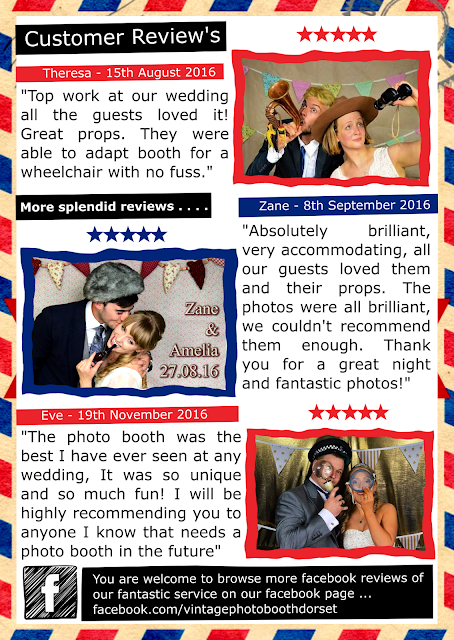 Vintage Photo booth Dorset reviews for weddings