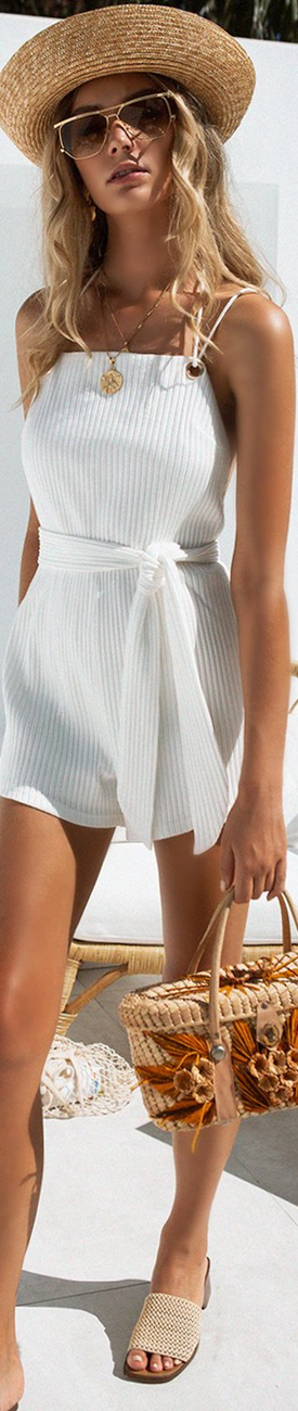 Sabo Skirt Astin Ribbed Playsuit