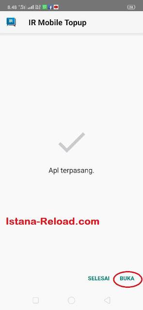 Pasang IR Mobile Topup Apk, Install IR Mobile Topup Apk , Aplikasi Istana Reload