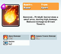 clash royale game fireball card