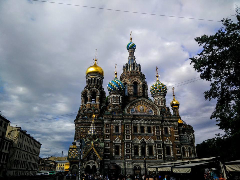 Russie Saint Petersbourg Cathédrale Saint Sauveur sur le Sang Versé