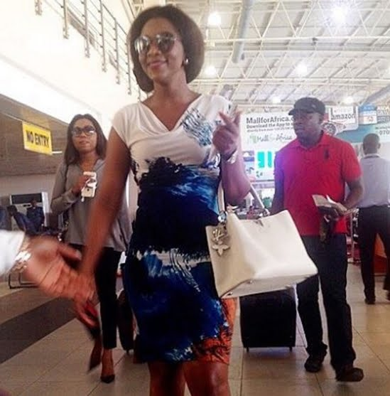 Photos: Genevieve Nnaji Pictured Live At 100.9FM & 92.5FM Enugu Promoting Her Movie