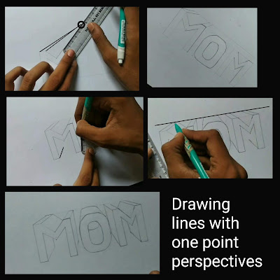 Mom drawing with one point perspective,Mother's day drawing, step by step tutorial, mom drawing with pencils, happy mother's day, Mother's day pencils drawing