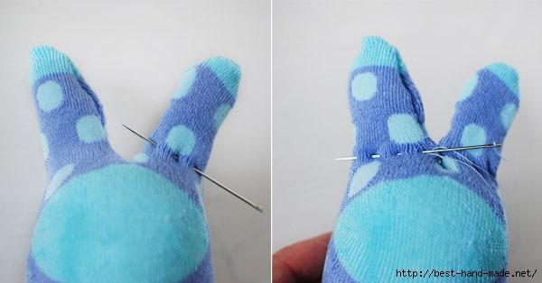 мягкая игрушка из носка для начинающих, мягкая игрушка из носка выкройки и схемы, мягкая игрушка из носка своими руками, мягкая игрушка из носка кошка, мягкая игрушка из носка своими руками заяц, мягкая игрушка из носка фото,  как сделать мягкую игрушку из носка, как сделать кошку из носка, как сделать зайца из носка, зайчик, из носков, из трикотажа, из текстиля, зайчик из носков, для малышей, игрушки мягкие, зверушки, для детей, пасхальные игрушки, пасхальный заяц, шитье, http://handmade.parafraz.space/,Зайчик из носка (МК) http://prazdnichnymir.ru/