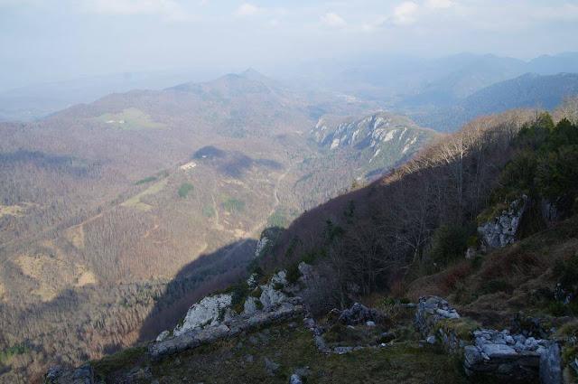 que se ve desde castillo de Montsegur