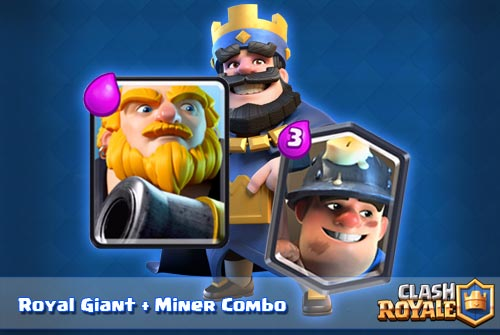 Deck Royal Giant Miner Arena 7 8 Clash Royale