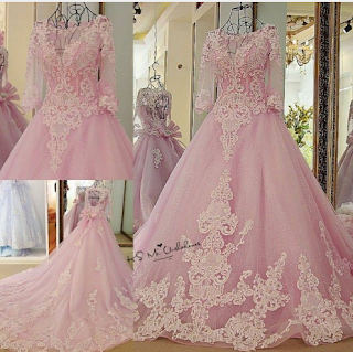 Luxury Pink Wedding Dress Vestidos de Noiva Princesa Beads Half Sleeve Ball  Gown Bride Dresses Imported China Wedding Gowns Lace 85b76c7a2a4e