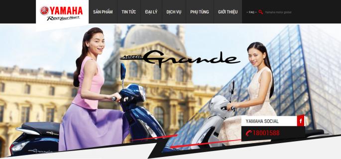 Thiết kế web bán xe máy Yamaha
