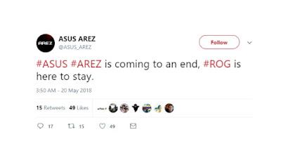 Asus Arez fake account