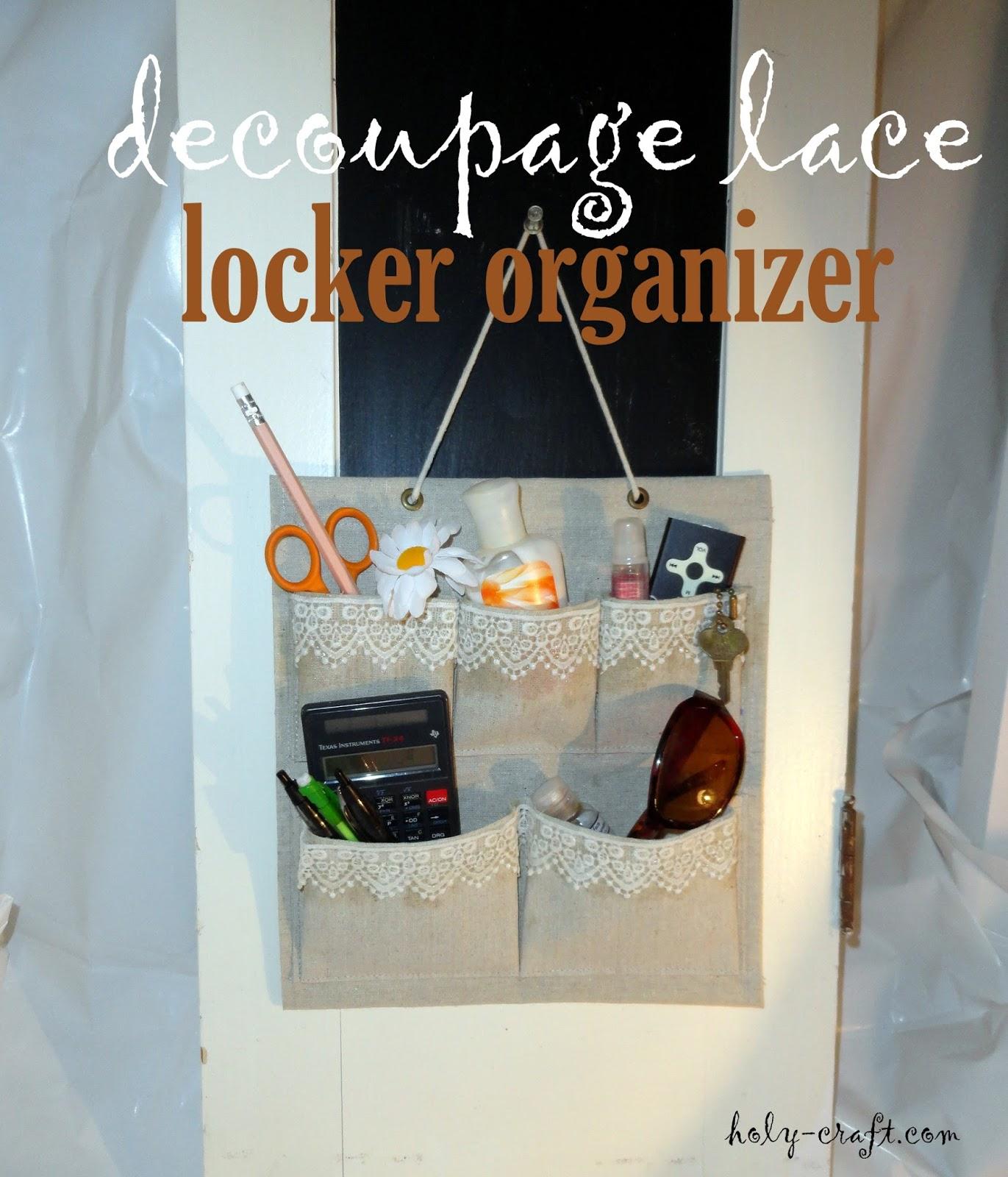 2f4f2fe8640 Martha Stewart Decoupage lace locker organizer   <datFeata:blog ...