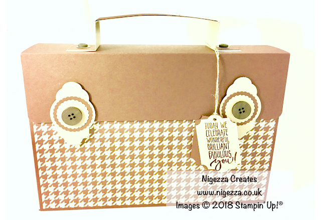 Stampin' Up!® Masculine Gift Bag using True Gentleman by Nigezza Creates