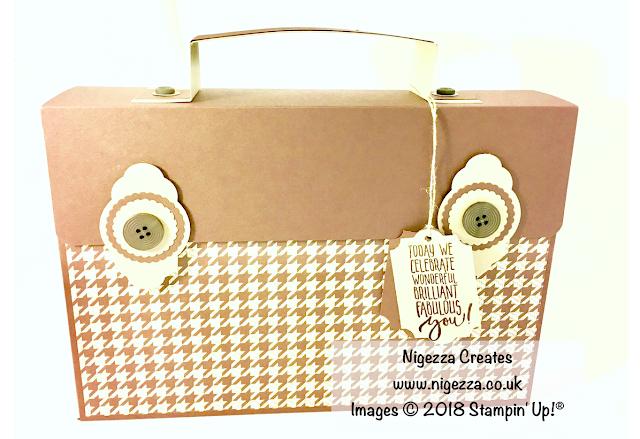 Stampin' Up!® Masculine Gift Bag using True Gentleman by Nigezza Creates